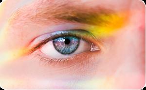 A close up look at a farsighted eye