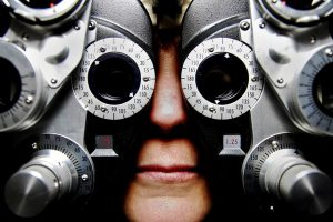 Getting your eyes checked by an optometrist
